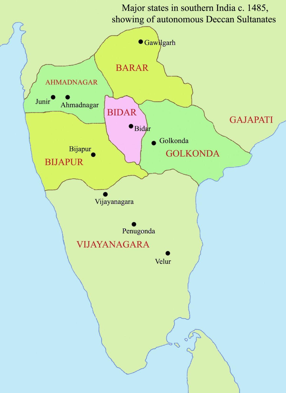 Deccan sultanates in 15th century